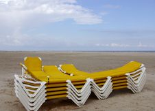 Free Beach Chairs Royalty Free Stock Image - 6174236