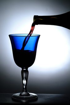 Free Wine Glass Whit Back Light Royalty Free Stock Photography - 6174527