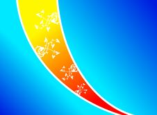 Free Orange Blue Texture Wave Royalty Free Stock Images - 6176819