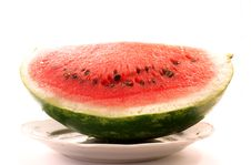 Water-melon On The Plate Royalty Free Stock Photography
