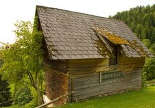 Wooden Hut Stock Photo