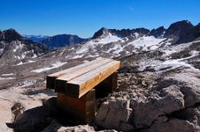 Free Bench On The Alps 3 Stock Photos - 6178193