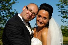 Free Happy Wedding Couple Royalty Free Stock Image - 6178636