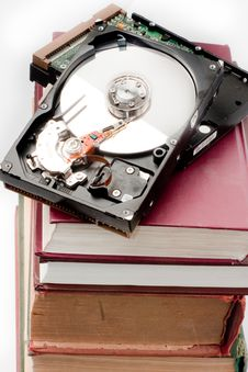 Free Books And Hard Disk Royalty Free Stock Images - 6179569