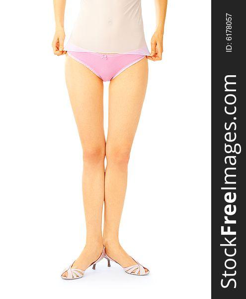 Girls Wearing Pink Panties