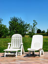 Free Two Deck Chairs Royalty Free Stock Photography - 6187757
