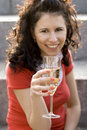 Free Girl With Champagne Stock Photos - 6188693