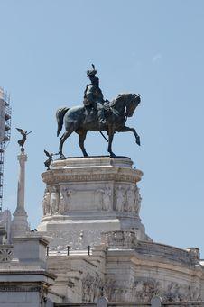 Free Monument Of Vittorio Emmanuele II On Venezia Squar Royalty Free Stock Image - 6180386