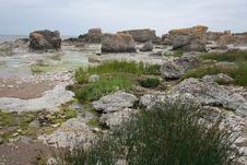 Rocks And Shoreline Royalty Free Stock Photos