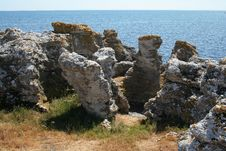 Free Boulders From Holmhallar, Sweden, Gotland Stock Photography - 6180682
