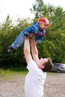 Free Father And Son Outdoor Stock Images - 6180724