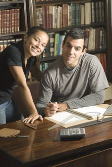 Free Young Couple Studying - Horizontal Stock Images - 6180734