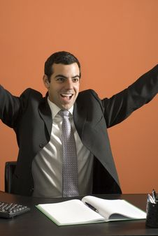 Free Happy Businessman - Vertical Stock Photography - 6180772