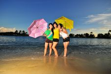 Free Fun At The Beach 89 Royalty Free Stock Photography - 6181457
