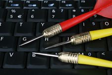 Free Darts On Laptop Stock Photo - 6181590