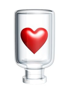 Free Red Heart In Bottle Stock Photo - 6181790