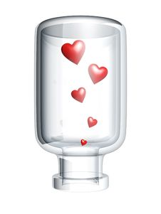 Free Red Heart In Bottle Stock Image - 6181791