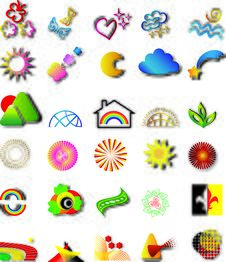 Set Vector Logo Elements Stock Image
