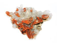 Free Crystals Of A Kaltsit And Quartz Royalty Free Stock Images - 6183329