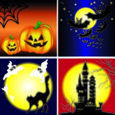 Halloween Background Vector Royalty Free Stock Photo