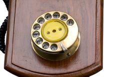 Free Dialer Of Vintage Phone Stock Image - 6183541