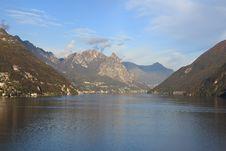 Lugano Lake Royalty Free Stock Photo