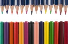 Free Row Of Colour Pencils Stock Photography - 6183662