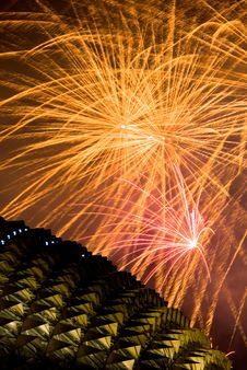 Free Fireworks Over Esplanade Stock Photos - 6183793