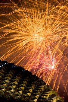 Fireworks Over Esplanade Stock Photos