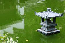 Oriental Lamp On Lake Royalty Free Stock Images