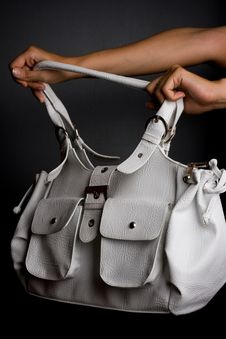 Free Womanish Bag Is In Hands Stock Photo - 6183840