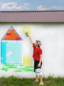Free Paint The House! Stock Image - 6184121
