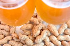 Free Beer In Glass  And Peanuts  In Shells. Stock Photography - 6184222