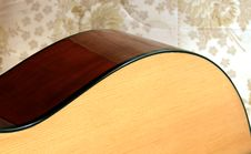Free Guitar Detail On Retro Background Stock Photo - 6184300