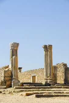 Free Morocco Roman Ruins Royalty Free Stock Photos - 6185158