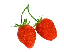 Free Two Strawberries Stock Photography - 6185302
