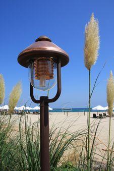 Free Lamp On The Beach. Stock Photos - 6185553