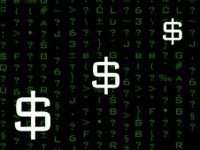 Free Dollar Symbols In Code Stock Images - 6185554