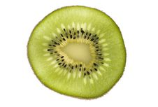 Free Kiwi Cross Section On White Royalty Free Stock Images - 6185829