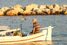 Old Boatman Royalty Free Stock Photography