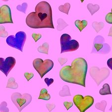 Seamless Valentine Tile Stock Images