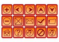 Free Web Icons And Buttons Royalty Free Stock Photography - 6187167