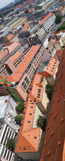 Free Tile Roofs Of Munich, Germany (3) Royalty Free Stock Image - 6187186