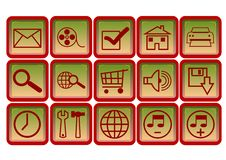 Free Web Icons, Buttons Stock Photo - 6187440
