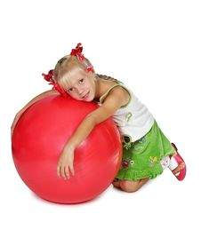 Free The Girl With A Ball Stock Photography - 6187492