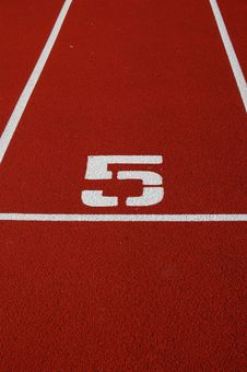 Free Running Track Number Stock Image - 6187781