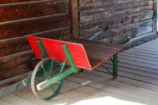 One Wheel Cart Stock Photo
