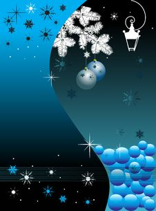 Free Winter Card With Snowflakes Royalty Free Stock Image - 6188236