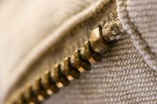 Free Close-up Of Zipper Royalty Free Stock Image - 6188696