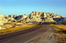 Driving Through The Badlands Royalty Free Stock Images
